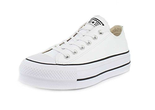 Converse Damen Chuck Taylor All Star Lift CLEAN Sneakers, Weiß (White/Black/White 102), 35 EU