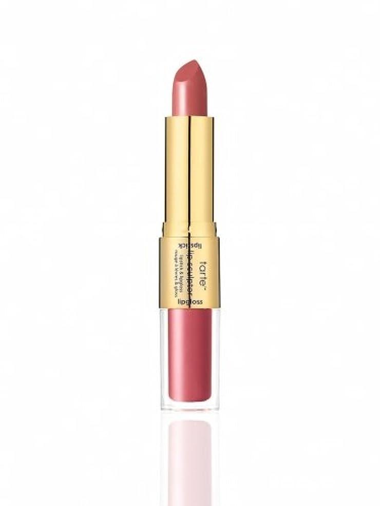 霧深い遠近法花弁tarte the lip sculptor lipstick & lipgloss (Treat (Dusty Rose))