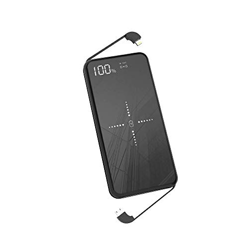 Aenkyo Wireless powerbank, Wireless Charger 10000mah Tragbares Externer Akku Pack, induktion Qi Power Bank Kompatibel mit iPhone XR/8/7, iPad Pro/2018,Samsung Galaxy S10/S9,Huawei P20/P30