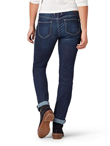 TOM TAILOR Damen Jeanshosen Alexa Straight Jeans Dark Stone wash Denim,31/30,10282,6000