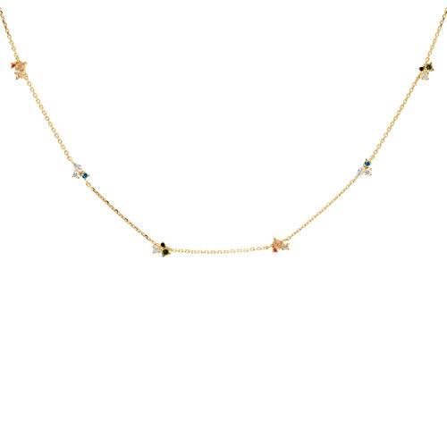 PDPAOLA - Collar La Palette - Plata de Ley 925 Bañada en Oro de 18k - Joyas para Mujer
