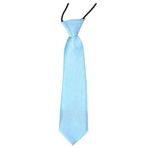 Handmade Sky Blue Floral Skinny Boys Tie Childrens Tie Kids Tie Wedding Tie Prom