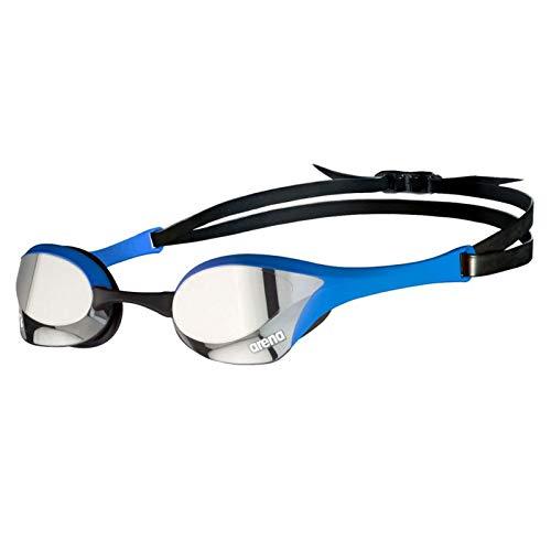 Arena Cobra Ultra Swipe Mirror - Gafas de natación, color plateado y azul