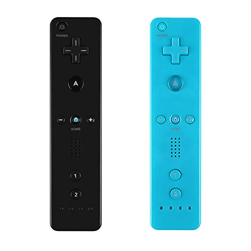 Yosikr Wireless Remote Controller for Wii Wii U - Black and Blue