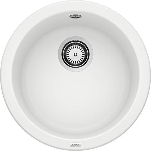 BLANCO Rondo, Küchenspüle, Rundbecken-Spüle aus Silgranit PuraDur, 1 Stück, weiß, 511621