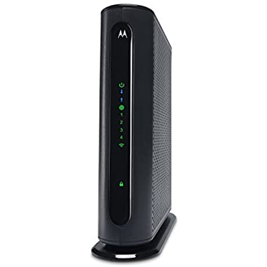 Motorola 8x4 Cable Modem Gateway + WiFi N450 GigE Router with Power Boost, Model MG7315, 343 Mbps DOCSIS 3.0, Certified by Comcast XFINITY, Charter Spectrum, Time Warner, BrightHouse, Cox and more