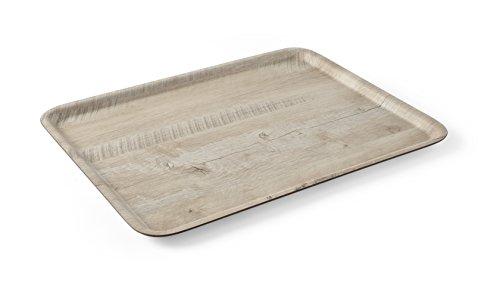HENDI Bandeja de servicio de melamina con diseño de madera - Madera clara - 330x430 mm