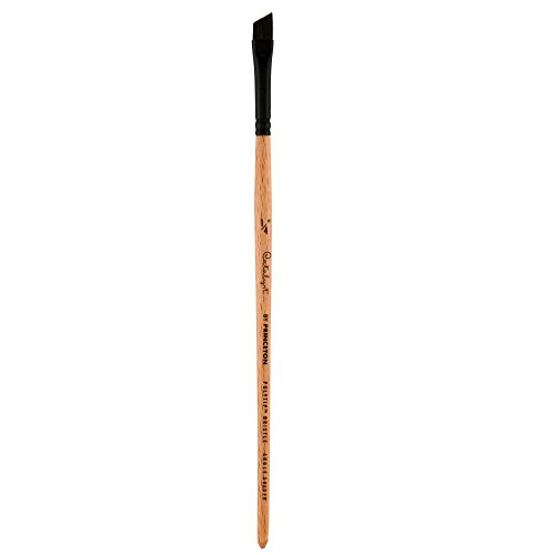 Princeton Catalyst Polytip, Brushes for Acrylic and Oil, Series 6450 Short Handle, Angle Shader, Size 1/4 Inch