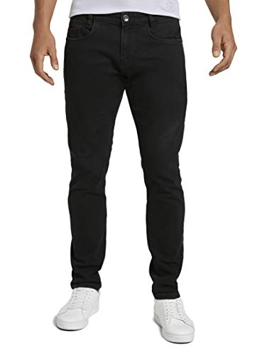 TOM TAILOR Herren Jeanshosen Troy Slim Jeans Black Black Denim,31/34