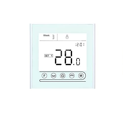ZIEM Controlador de temperatura programable con termostato inteligente Tuya WiFi para calefacción de calderas de agua/gas compatible con Home Pantalla táctil con retroiluminación