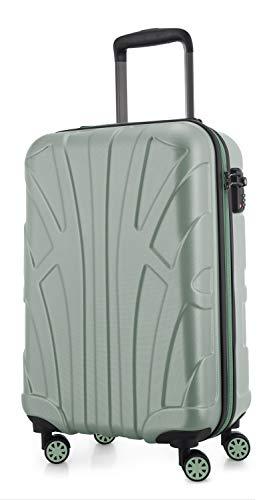 Suitline Handgepäck Hartschalen-Koffer Koffer Trolley Rollkoffer Reisekoffer, TSA, 55 cm, ca. 34 Liter, 100% ABS Matt, Mint