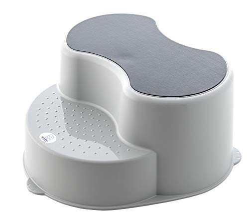 Rotho Babydesign 20005 0286 Top Childrens Stool Sgabello per Bambini, Grigio (Stone Grey)