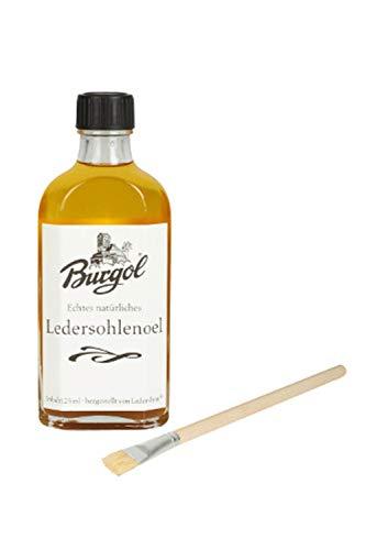 Burgol Set Ledersohlenpflege Ledersohlenöl 125 ml Pinsel