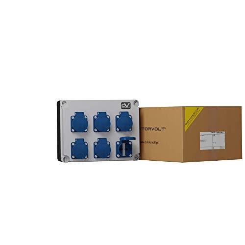 Wandverteiler Stromverteiler FRED4 6x230V mit Mennekes Dosen IP54 Baustromverteiler Steckdosenverteiler 2978