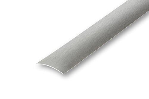 Edelstahl Übergangsprofil 40 x 1000 mm selbstklebend matt geschliffen Laminatprofil Parkettprofil Türleiste Ausgleichsprofil (40 x 1000 mm, matt geschliffen)