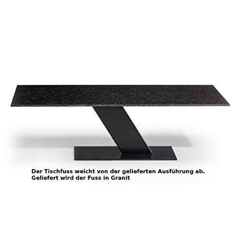 Studio 20 Las Vegas Gartentisch 220x90x75 cm Granittisch Granitplatte Steinfuss Tischplatte Pearl Black satiniert