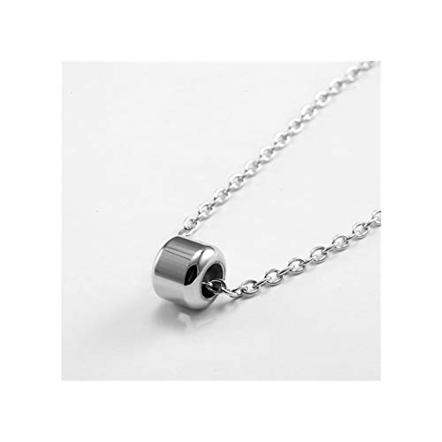 WAZG SYBLD Collar de Plumas Simple (Length : 60cm 23.5 in, Metal Color : MYNK0377D)