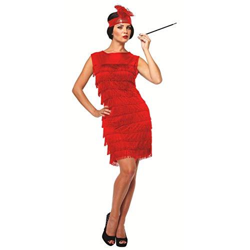 Be-Creative Disfraz de flampa para mujer, diseo de flores, color rojo
