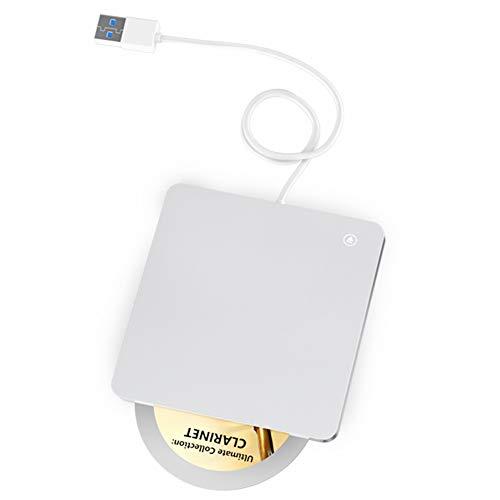 Quwn Externe dvd-/cd-speler, USB-drive, draagbare 3.0 touchables board, dvd-/cd-rw-writer, geschikt voor notebooks, mobiele telefoons, compatibel met PC en PC