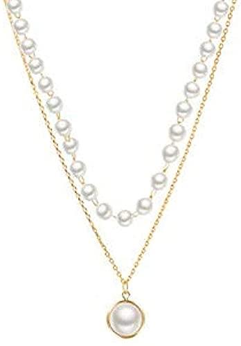 YOUZYHG co.,ltd Halskette überlagert Retro Super Fee Doppelkette Anhänger Zubehör Kette Halskette