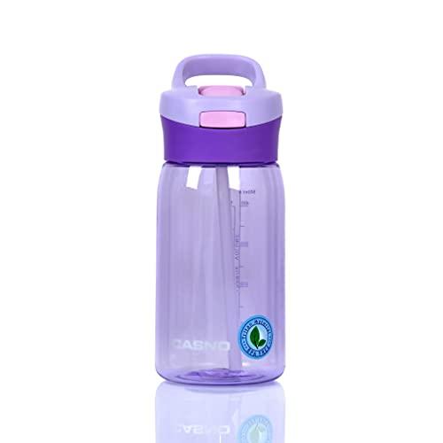 CASNO Botella portátil reutilizable con filtro o tubo fuerte, pequeña botella Tritan para bebidas o agua Tritan JUKON 500 ml violeta KXN-1206L