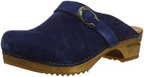 Sanita Damen Hedi Open Clogs, Blau (Navy 29), 41 EU