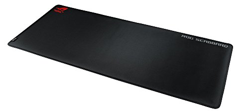ASUS ROG Scabbard Extended Gaming Mouse Pad - Splash-Proof, Stain-Resistant Surface | Responsive Mouse Tracking | Durable Anti-Fray Stitching | Non-Slip Rubber Base
