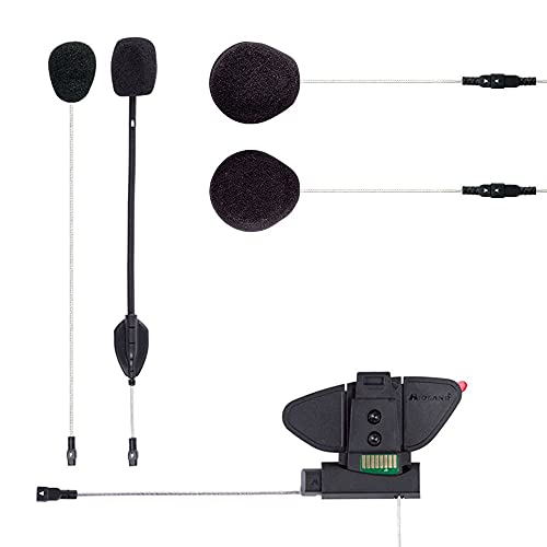 Midland 1632413 Accessori e Ricambi Interfono Kit Audio BT PRO, Nero