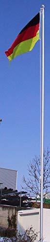 normani Aluminium Fahnenmast 6,20 6,80 oder 7,50 m Höhe inklusive Piratenflagge Totenkopf Fahne (90 x 150 cm) Farbe Deutschland Größe 8.00 Meter