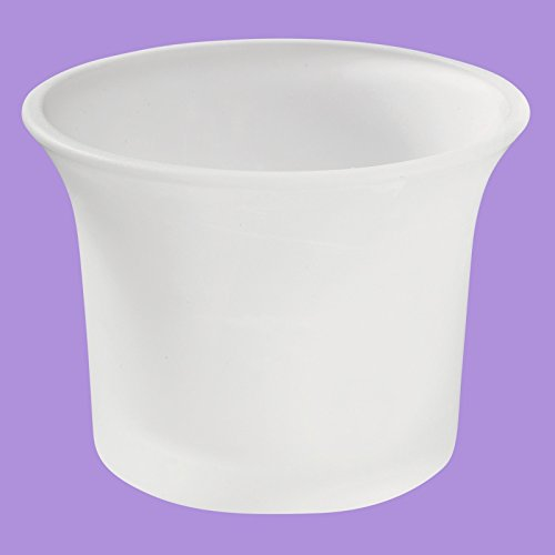 10 Stück Teelichtglas gefrostet, Milchglas
