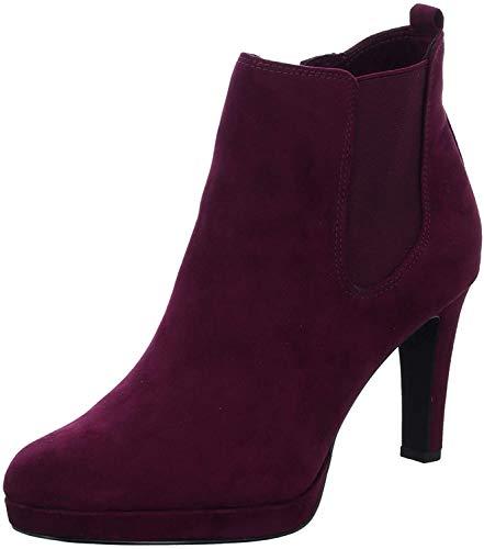 Tamaris Damen Stiefeletten Bordeaux, Schuhgröße:EUR 41