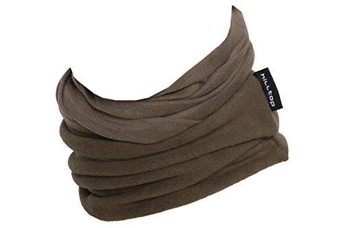 Hilltop Polar Halstuch, Multifunktionstuch, Kopftuch, Schlauchschal, Schal mit Fleece, Cooles Design in Trendfarben, für Damen und Herren, Farbe:Oliv