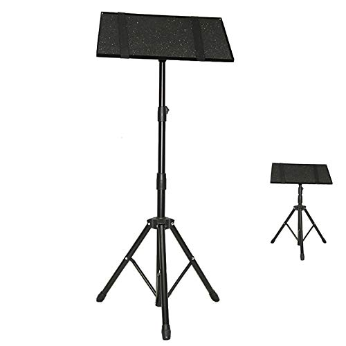 GJQGYY Laptop Projector Stand, Portable Desktop Laptop Holder, Tripod Floor-Standing Design, for On-stage or in-Studio Use (Black)