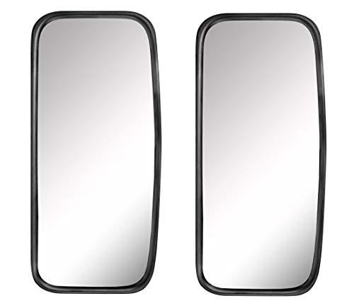 2 espejos universales para camiones, furgonetas o autobuses, 36,5 x 18 cm, tamaño con soporte flexible.