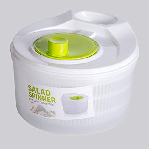 Salad Spinner Vegetable Washer Dryer Drainer Strainer with Bowl & Colander, Fruits and Vegetables Dryer by KAUKKO