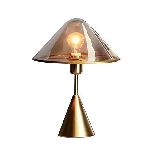 jinyi Lámpara de Mesa Lámpara de Mesa de Cristal Moderna nórdica Creativa lámpara de Noche Elegante Dormitorio lámpara de Mesa Mesita de Noche Lámpara