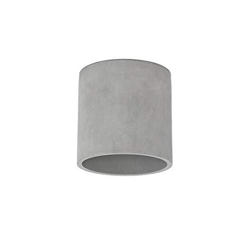 Lámpara de hormigón SHY de hormigón en gris, cilindro moderno, altura: 14 cm, loft, salón, pasillo, lámpara de techo