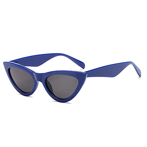 ShSnnwrl Único Gafas de Sol Sunglasses Gafas De Sol De Ojo De Gato Vintage Gafas De Mujer Gafas De Mujer De Moda Rojo Azul 3