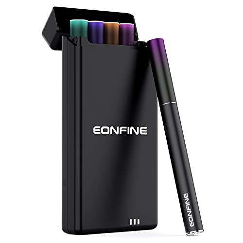 Eonfine 電子タバコ用充電ケース 充電収納ケース プルームテック充電用の充電ケース DR.VAPE充電用の充電ケース カートリッジ4本とバッテリー1本付き 1200mAh大容量 プルームテック収納用のケース