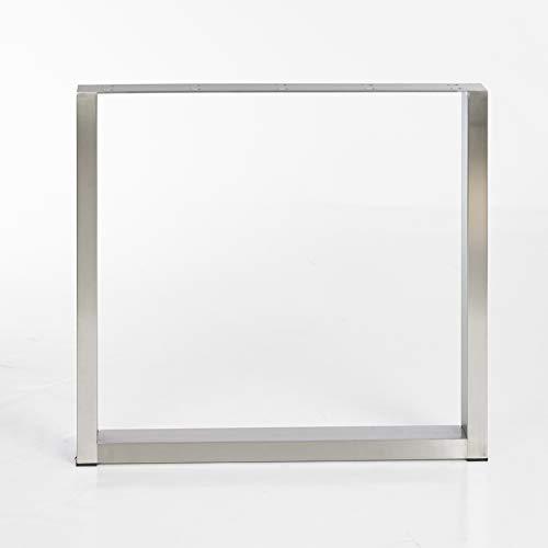 mina concept 4 – 1 Cuchillas de mesa de acero inoxidable – Estructura de mesa en forma de U – Perfil 100 x 40 mm – para diseñador – Individual