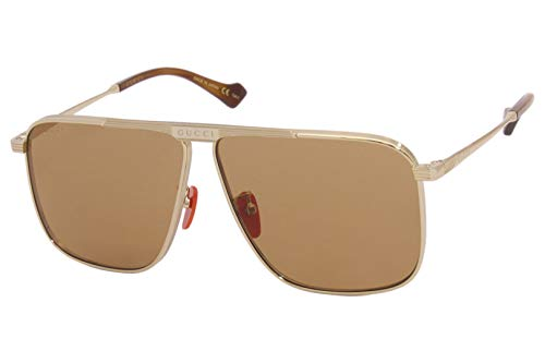 Gucci GG-0840-S 004 - Gafas de sol, color dorado y marrón