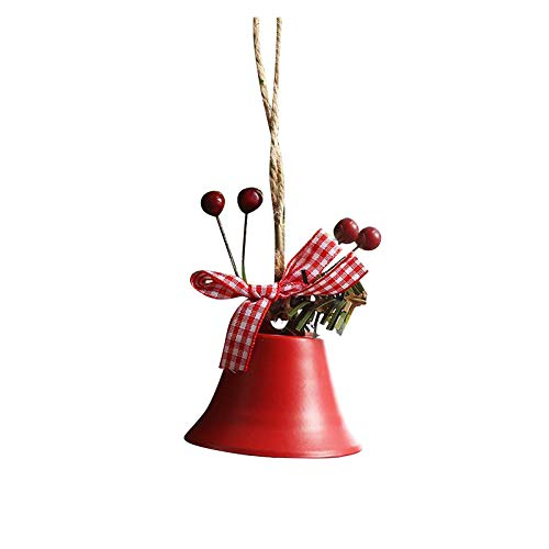 Fineday 2020 Christmas Ornament Christmas Pendant Accessories Christmas Small Bell, Decoration & Hangs, for Christmas Day (E)