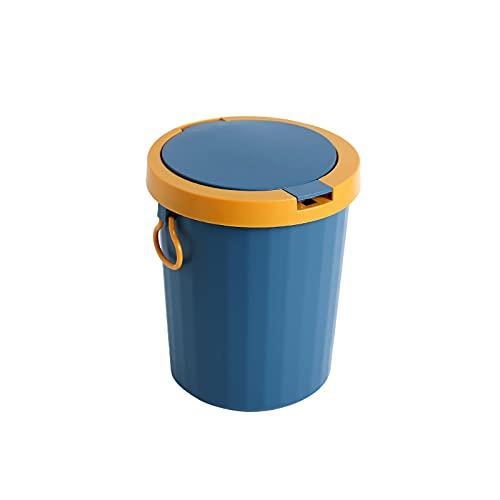 DAGCOT Cubos de Basura para Exterior Basura Can Baño Baño Pequeño Baño con Tapa Cuarto de baño Cocina Manija Sala de Estar Aseo Impermeable Papelera de contenedor de Basura (Color : A)