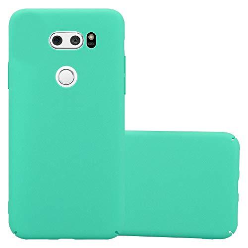 Cadorabo Custodia per LG V30 in Frosty Verde - Rigida Cover Protettiva Sottile con Bordo Protezione - Back Hard Case Ultra Slim Bumper Antiurto Guscio Plastica