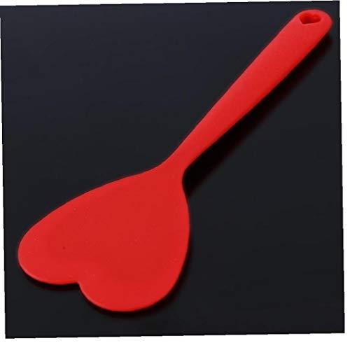 Creativo di Calore in Silicone Resistente Cucinare Forma Utensili Cuore Rosso Turner Fritto Bistecca Spatola Lovely Kitchen, 1pc Red