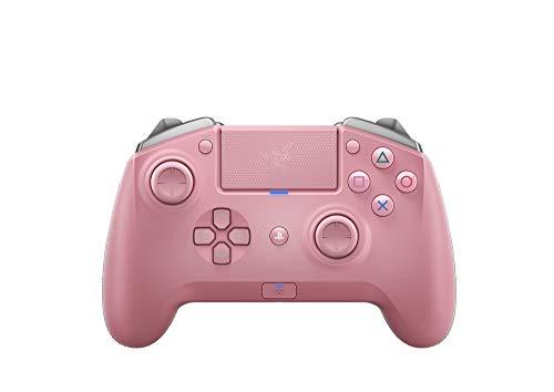 Razer Raiju Tournament Edition Quartz (2019) - Wireless and Wired Gaming Controller für PS4 + PC (Kabelgebundener und Kabelloser Bluetooth Controller, Mecha-Tactile-Aktionstasten) Pink
