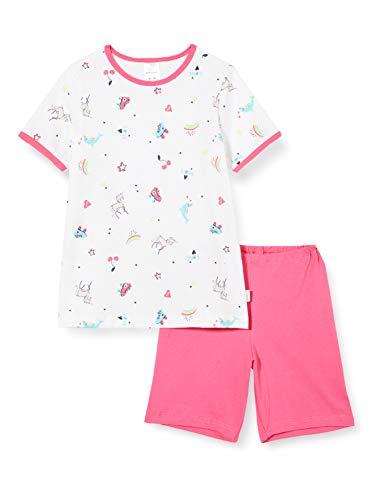 Schiesser Mädchen Girls World Md kurz Zweiteiliger Schlafanzug, Weiß (Weiss 100), (Herstellergröße: 116)
