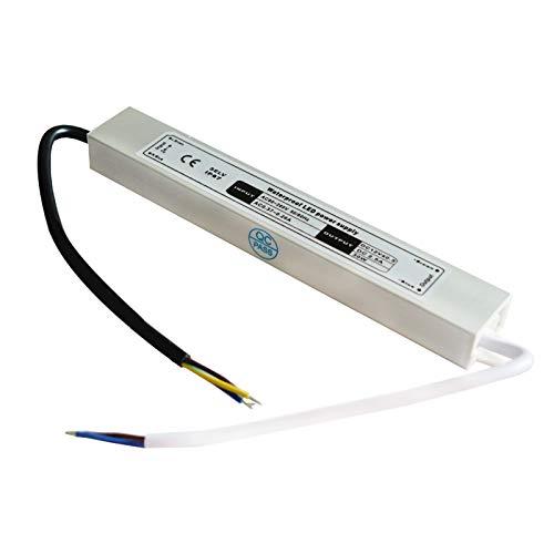 Noobibaba Led Trafo 12V 30W, Led Konverter Led Transformator 230V auf 12V, Wasserdicht IP67 12V 2.5A
