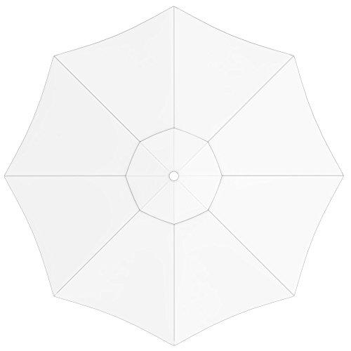 paramondo Tela de Recambio para Sombrilla Parasol INTERPARA, Incl. Air Vent (3,5m / Redonda), Blanco