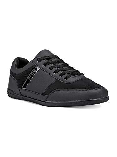 Ombre Herren Sneaker | Sportliche Outdoor-Schuhe in klassischer Optik | Gr. 40-46 | 3 Farben | 42 Schwarz